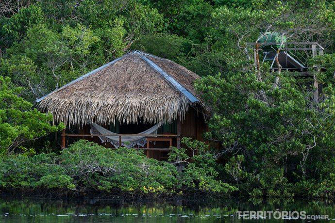 Cabana com aquecimento de água para o banho
