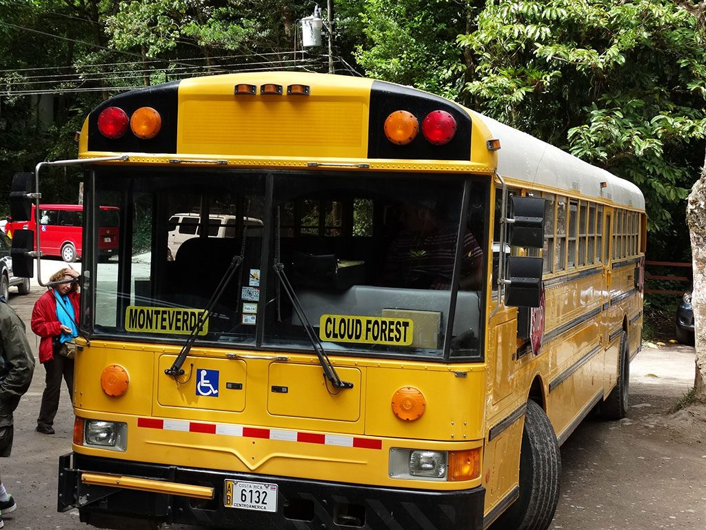 Transporte público para o Bosque Nebuloso