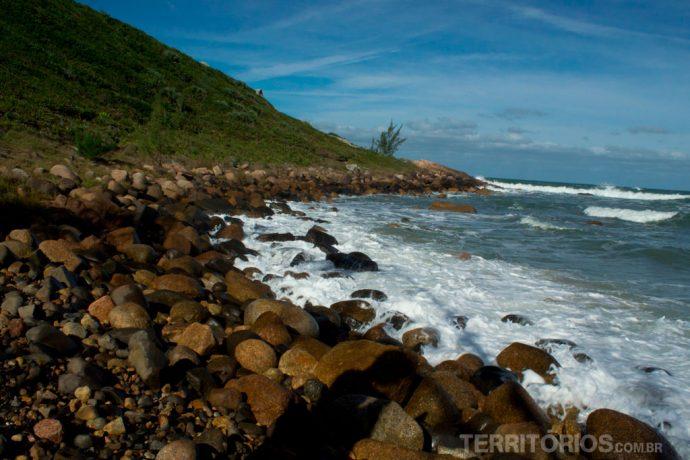 Canto norte da Praia do Rosa
