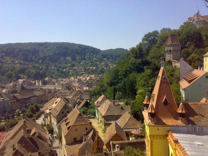 Os telhados e a vista