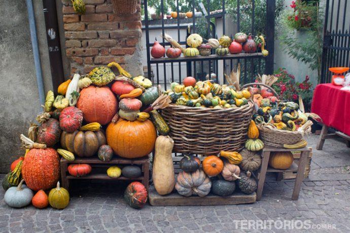 Legumes da estação em Arquà Petrarca