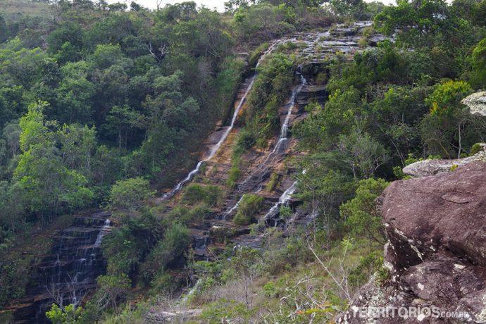 Cachoeira Véu de Noiva quase sem água