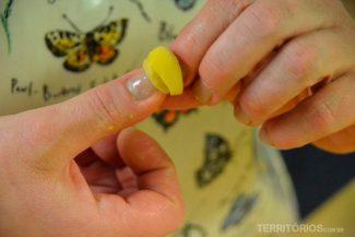 O anollini deve ser perfeito moldado no dedo