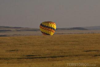 O pouso do balão