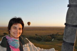 Roberta Martins no voo de balão
