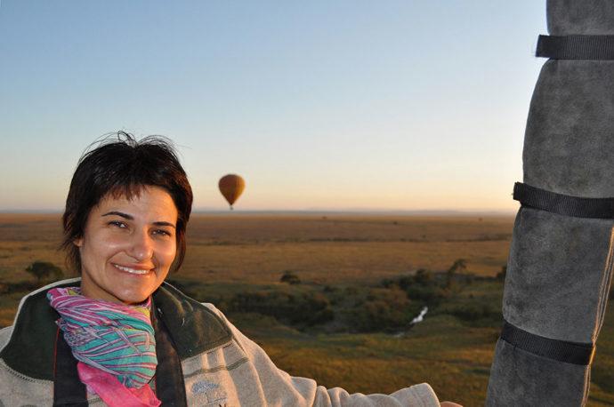Passeio de balão em Maasai Mara com a boca rachada e cara de sono (foto Tarcila Ferro)