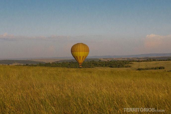 Safari no balão em Maasai Mara