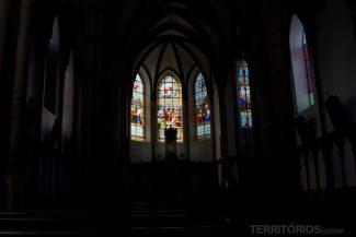 Vitrais no interior da Igreja