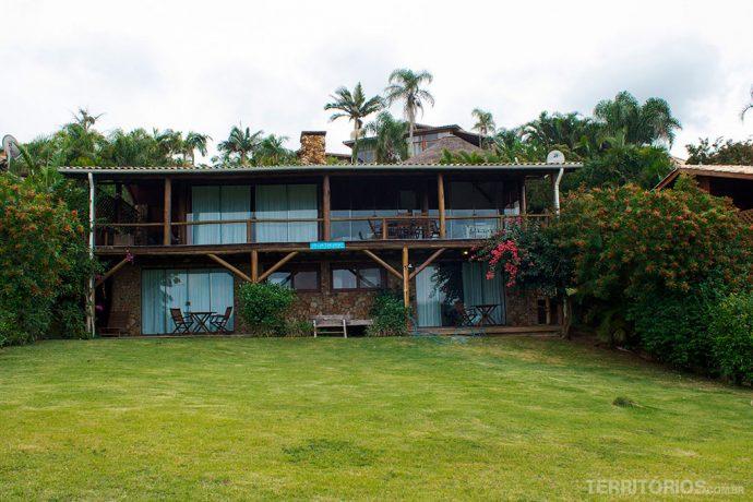 Frente da casa Tucano onde me hospedei com mais doisamigos