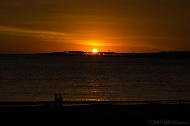 Pôr do sol em Punta