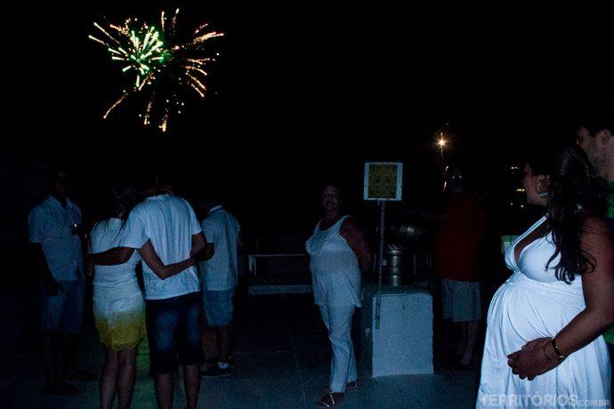 Festa em família no terraço