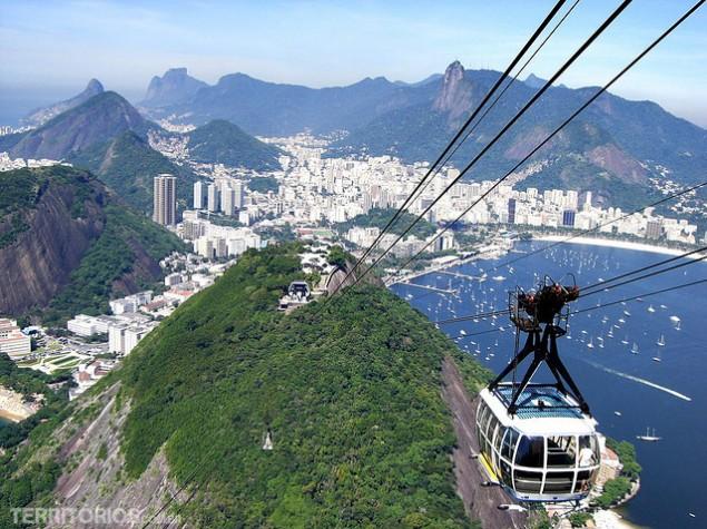 Foto clássica com o Morro da Urca