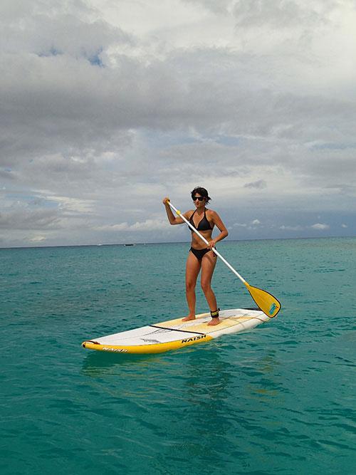 Primeira vez no SUP foi em Barbados