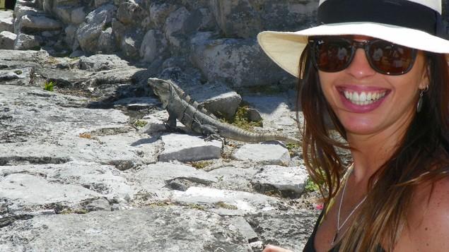 Onde antes viviam os maias, hoje habitam as iguanas