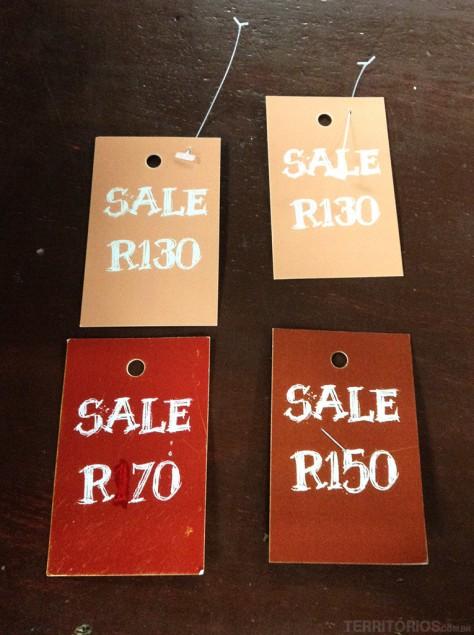Promoções em rands. R10 = U$1