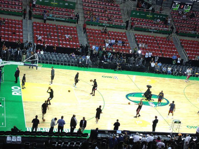 Jogo de basquete do meu time – Miami Heat