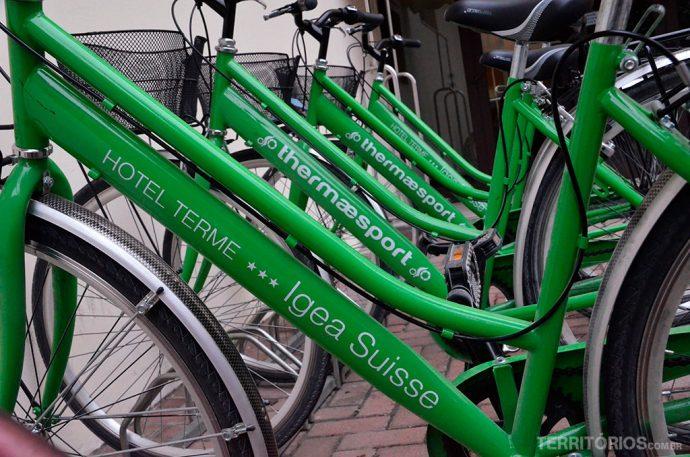 Bicicletas à disposição dos hóspedes
