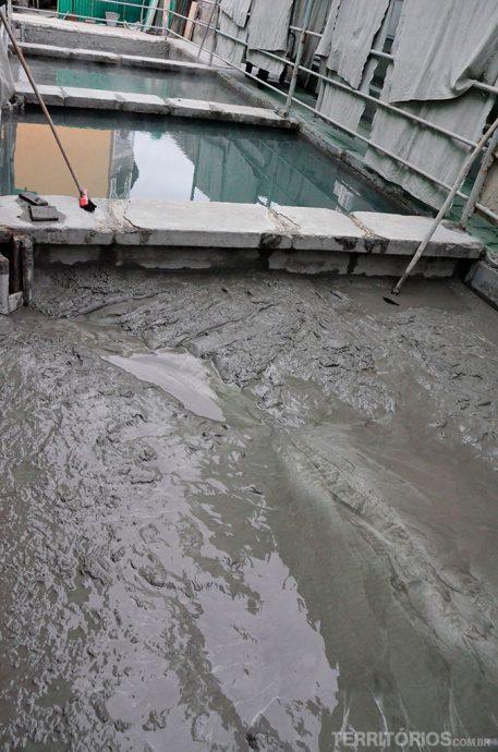 A lama que vem de Montegrotto armazenada no Igea Suisse