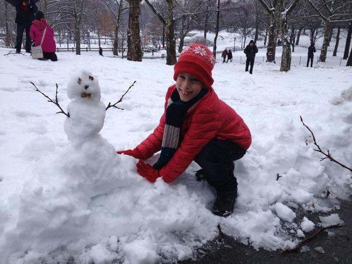 Brincando no Central Park