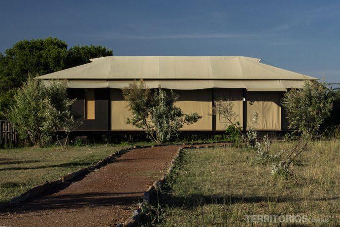 A barraca onde dormi duas noites sozinha