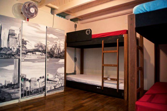 Dormitório Feminino no Paulicéia Hostel