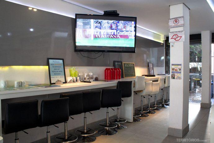 Área do café da manhã é aberta ao público durante eventos