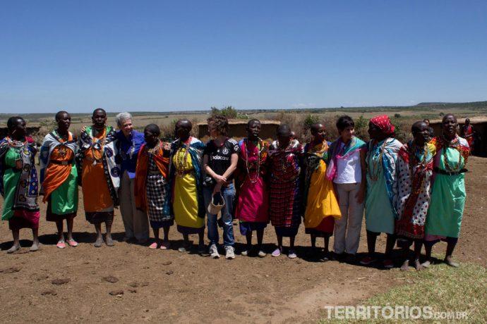 Abençoada pelas mulheres Masais