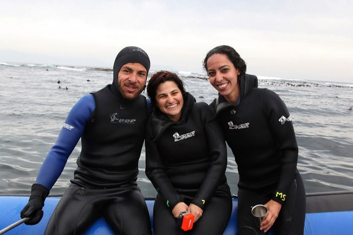 Guilherme, eu e Cris congelados. Por Andre Motta
