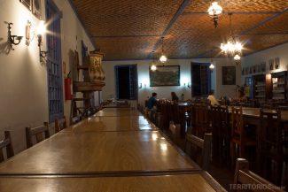 O refeitório do Santuário do Caraça