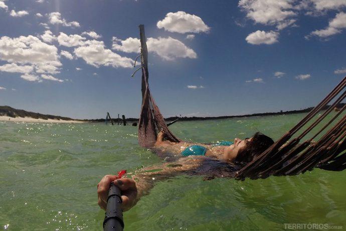 Relax total na Lagoa Paraíso de Jericoacoara
