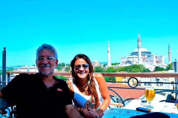 A maioria dos restaurantes visitados foram no último andar de algum edifício da antiga Constantinopla