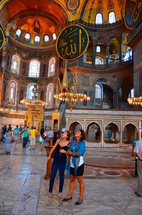 Impressionadas no interior da Santa Sofia