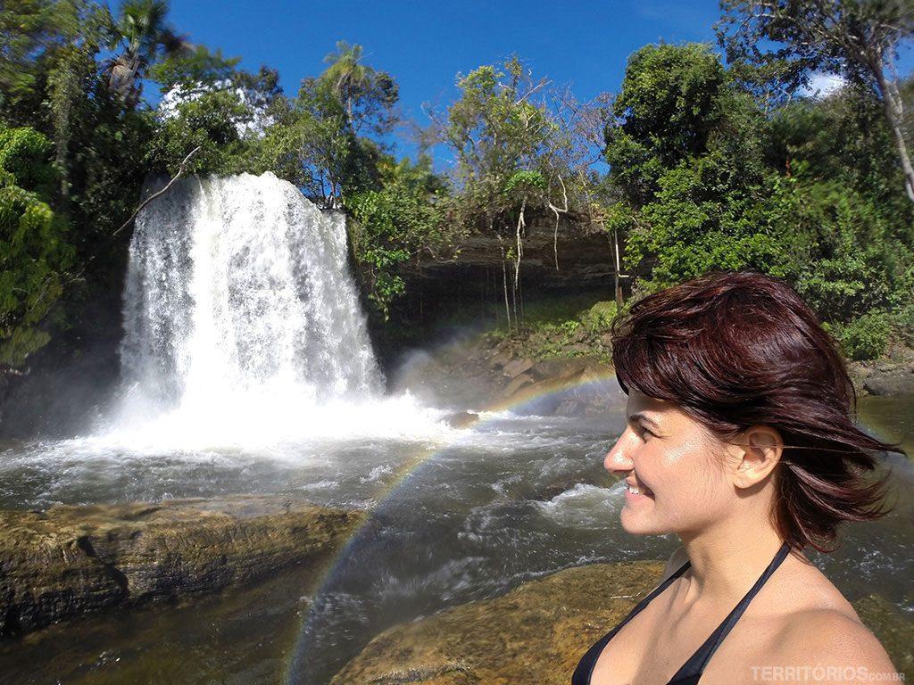 No meu primeiro passeio em Carolina fui recebida por este arco-íris na Cachoeira do Itapecuru