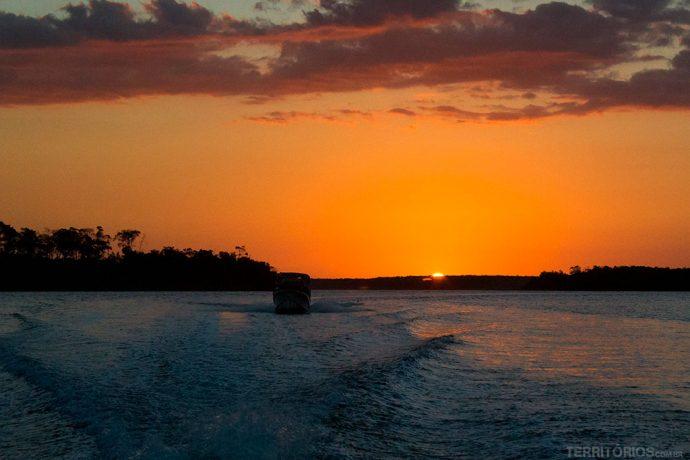 Pôr do sol no Delta do Parnaíba
