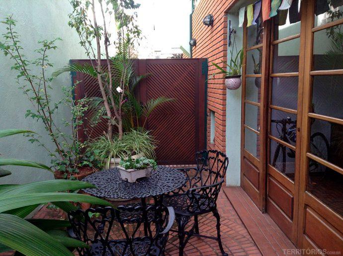 Área externa da casa