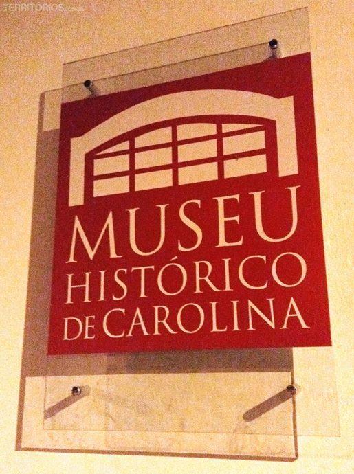 Fachada do Museu Histórico de Carolina inaugurado dia 15 de julho deste ano