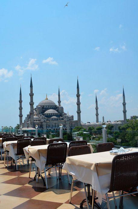 Vista para a Mesquita Azul