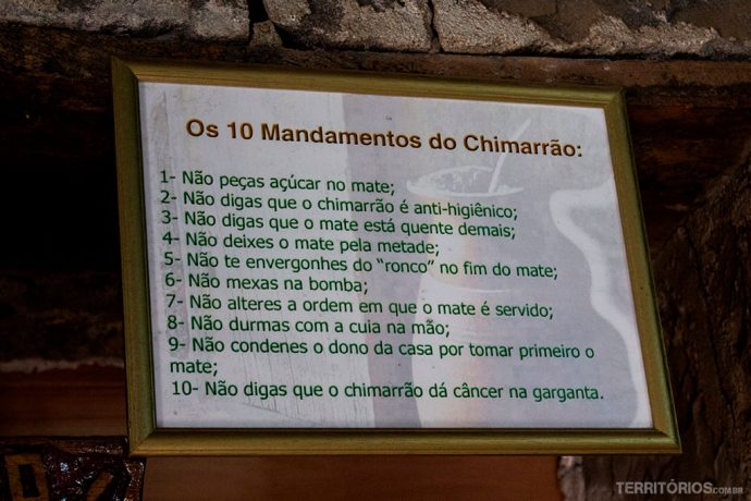10 mandamentos do Chimarrão