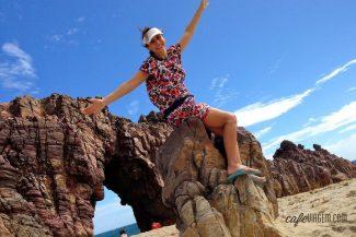 Alexandra Aranovich na foto clássica na Pedra Furada