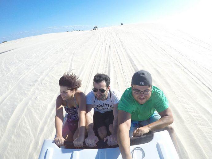 Luiz (blog Boa Viagem) registrou o nosso sofrimento com vento e areia