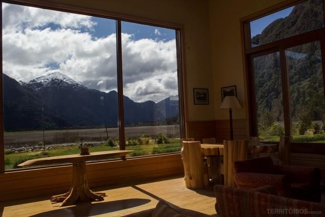 Vista no Hotel Natura Patagonia em Peulla