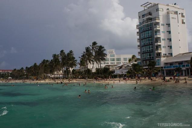 Região hoteleira ou centro de San Andrés