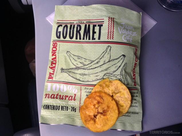 Plátano no lanche do avião