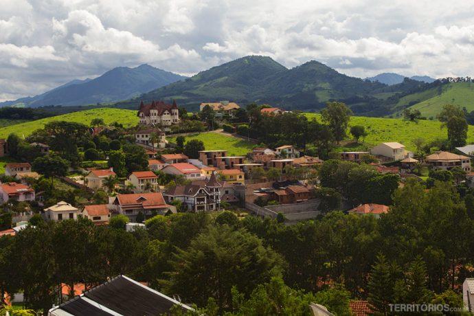 As montanhas de São Lourenço vistas da pousada