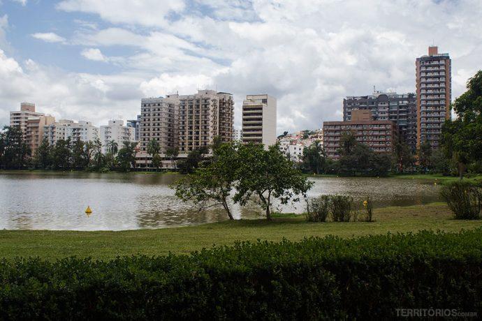 Centro de São Lourenço visto do Parque das Águas