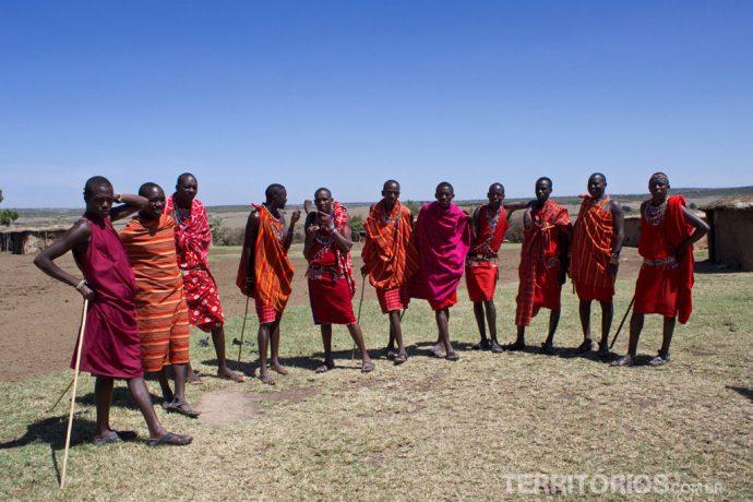 Tribo Maasai em Maasai Mara