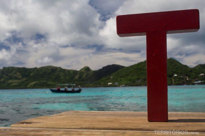 T pelo Mundo descobre o caribe colombiano. Curtindo o visual de Crab Cay, em Providência