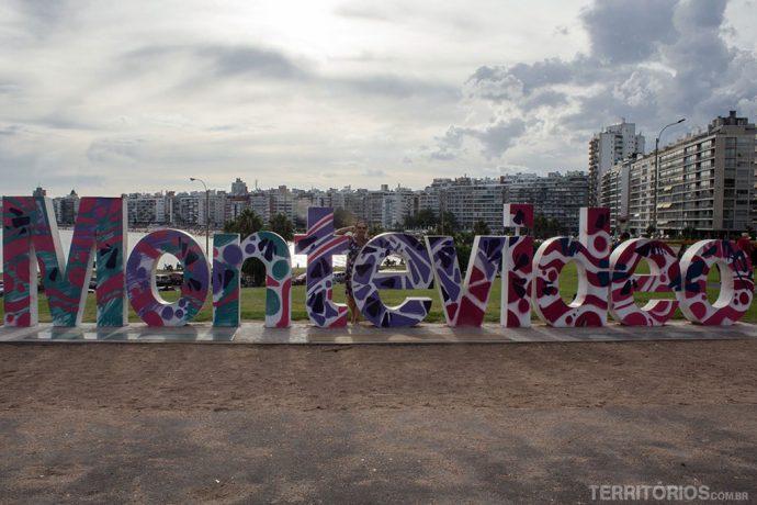 O t colorido da palavra Montevideo