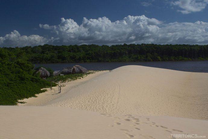 Vista das dunas em Vassouras