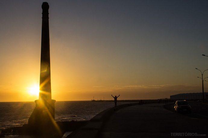 Pôr do sol na Rambla Gran Bretaña